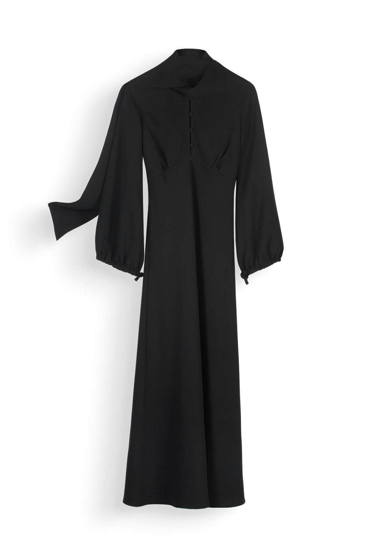 Creative fashion photography of floating or hanging dress from NZ fashion brand Wynn Hamlyn