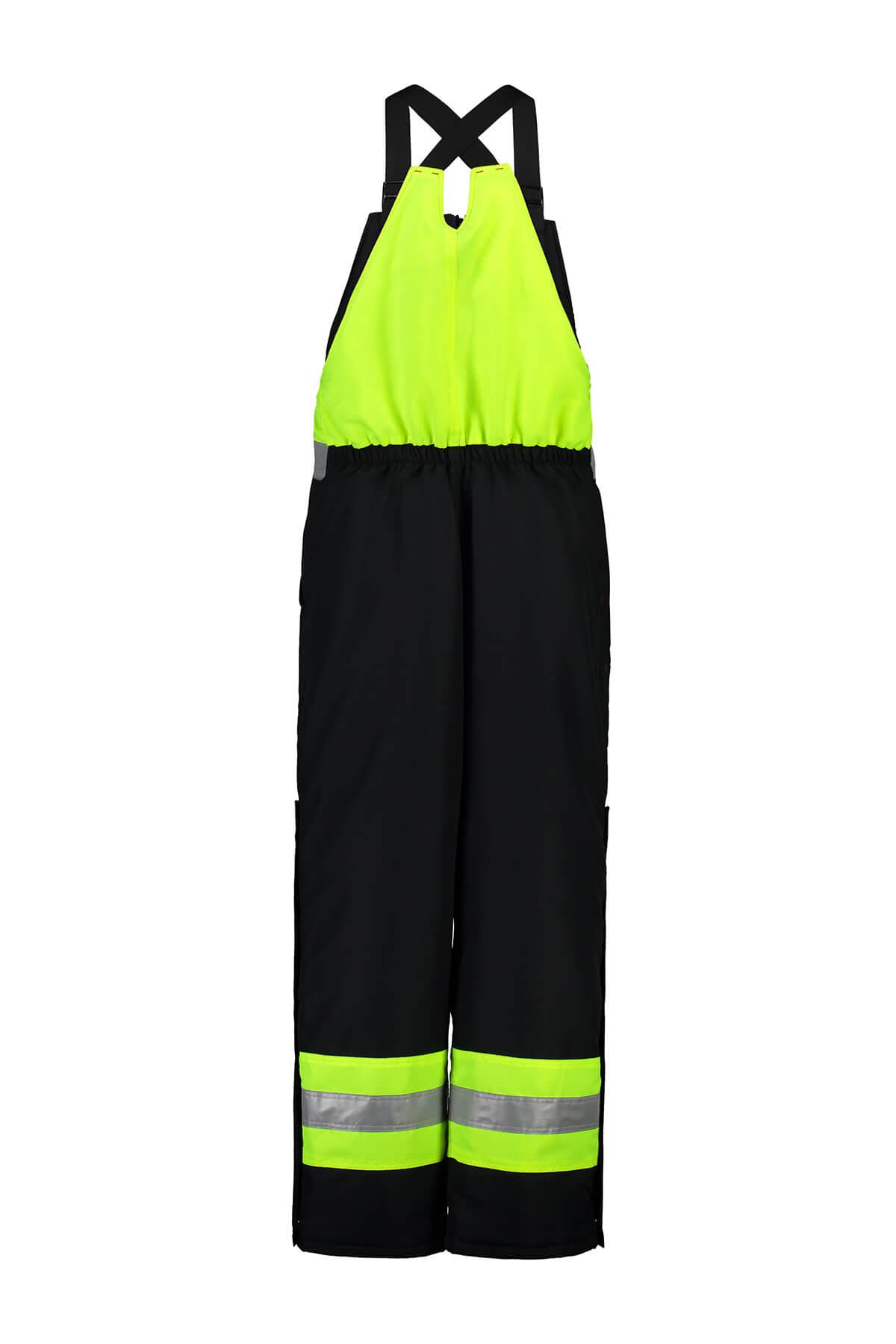 Fluro overalls mens workwear shot on ghost mannequin